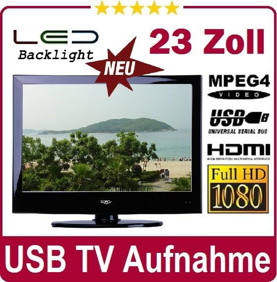 LED-LCD-TV-23-Zoll-58-cm-Xoro-2335-HD-12V-DVB-T-USB-Mediaplayer-Aufnahme-PVR