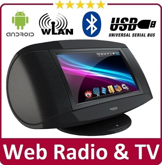 internet radio tv xoro hmt 380 mit android w lan bluetooth mp3 web mediaplayer ebay. Black Bedroom Furniture Sets. Home Design Ideas